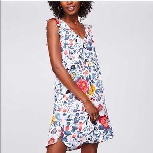 Ann Taylor Loft Flowerbed Flutter Swing Dress